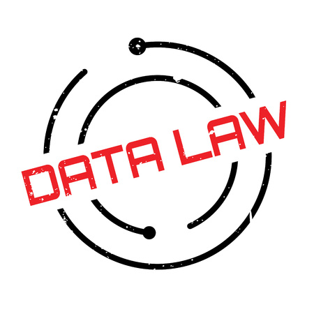 Data Law rubber stamp. Grunge design with dust scratches. Effects can be easily removed for a clean, crisp look. Color is easily changed. Illustration