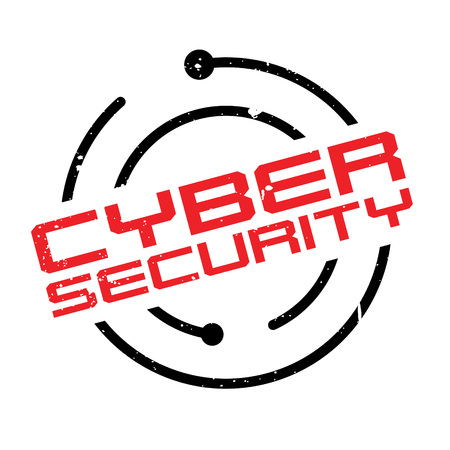 Cyber Security rubber stamp. Grunge design with dust scratches. Effects can be easily removed for a clean, crisp look. Color is easily changed. Illustration