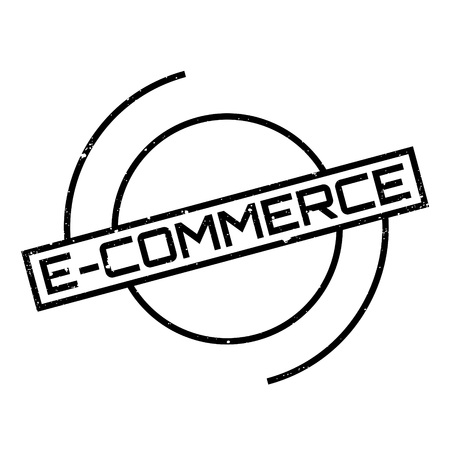 e commerce: E-Commerce rubber stamp. Grunge design with dust scratches. Effects can be easily removed for a clean, crisp look. Color is easily changed. Illustration