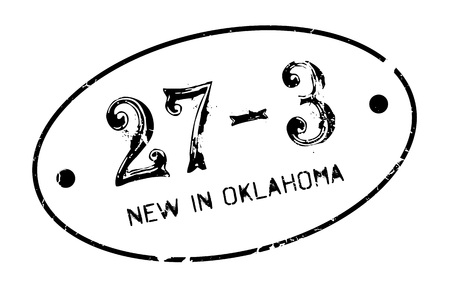 bombing: New In Oklahoma rubber stamp. Grunge design with dust scratches. Effects can be easily removed for a clean, crisp look. Color is easily changed. Illustration