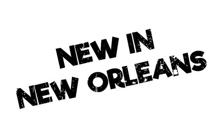crescent: New In New Orleans rubber stamp. Grunge design with dust scratches. Effects can be easily removed for a clean, crisp look. Color is easily changed.