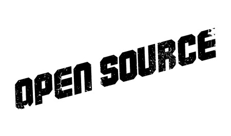 Open Source rubber stamp. Grunge design with dust scratches. Effects can be easily removed for a clean, crisp look. Color is easily changed. Vettoriali