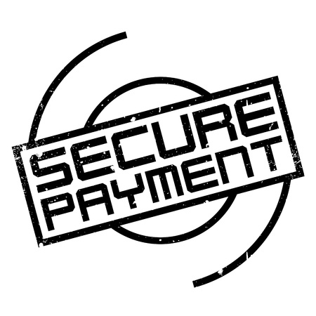 retail therapy: Secure Payment rubber stamp. Grunge design with dust scratches. Effects can be easily removed for a clean, crisp look. Color is easily changed.