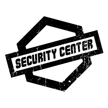 intermediate: Security Center rubber stamp. Grunge design with dust scratches. Effects can be easily removed for a clean, crisp look. Color is easily changed. Illustration