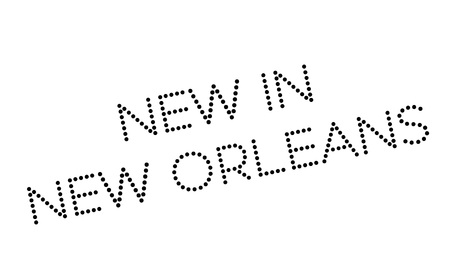 new orleans: New In New Orleans rubber stamp. Grunge design with dust scratches. Effects can be easily removed for a clean, crisp look. Color is easily changed.