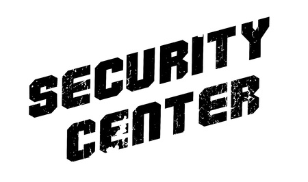 Security Center rubber stamp. Grunge design with dust scratches. Effects can be easily removed for a clean, crisp look. Color is easily changed. Çizim