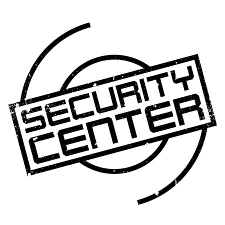 refuge: Security Center rubber stamp. Grunge design with dust scratches. Effects can be easily removed for a clean, crisp look. Color is easily changed. Illustration