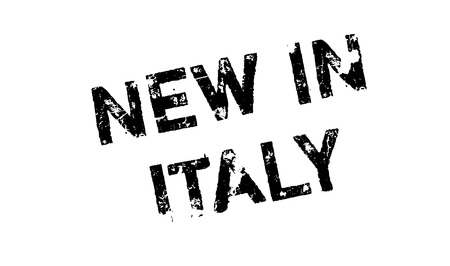 New In Italy rubber stamp. Grunge design with dust scratches. Effects can be easily removed for a clean, crisp look. Color is easily changed. Illustration