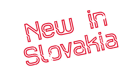 New In Slovakia rubber stamp. Grunge design with dust scratches. Effects can be easily removed for a clean, crisp look. Color is easily changed.