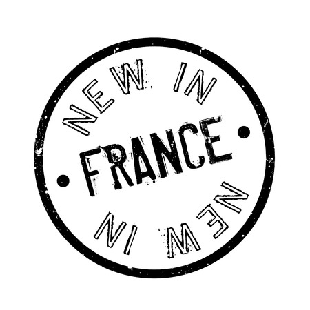 corsica: New In France rubber stamp. Grunge design with dust scratches. Effects can be easily removed for a clean, crisp look. Color is easily changed.
