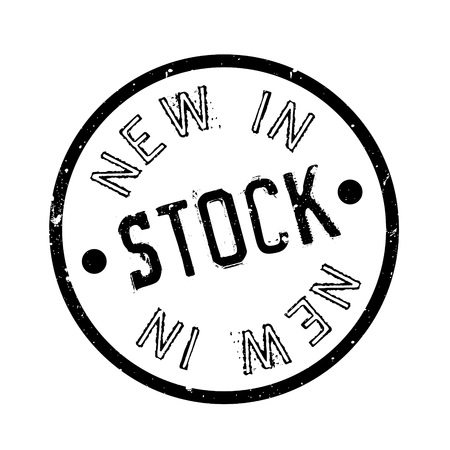 New In Stock rubber stamp. Grunge design with dust scratches. Effects can be easily removed for a clean, crisp look. Color is easily changed.