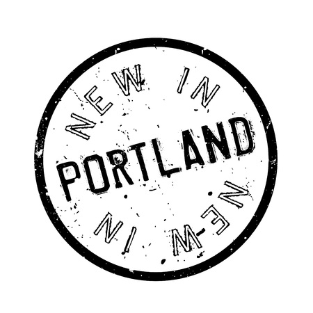 nba: New In Portland rubber stamp. Grunge design with dust scratches. Effects can be easily removed for a clean, crisp look. Color is easily changed.