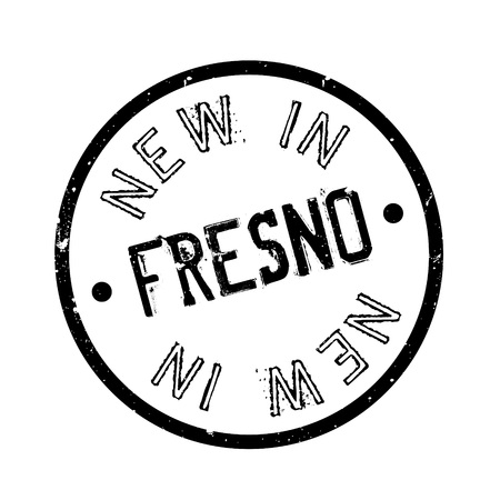 joaquin: New In Fresno rubber stamp. Grunge design with dust scratches. Effects can be easily removed for a clean, crisp look. Color is easily changed.