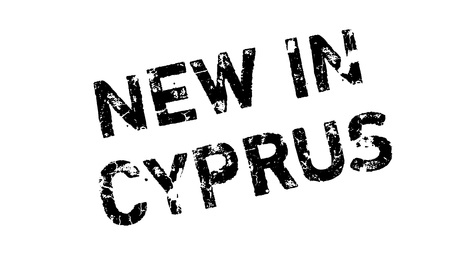 New In Cyprus rubber stamp. Grunge design with dust scratches. Effects can be easily removed for a clean, crisp look. Color is easily changed.
