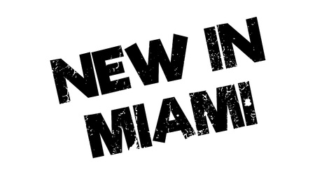 maverick: New In Miami rubber stamp. Grunge design with dust scratches. Effects can be easily removed for a clean, crisp look. Color is easily changed.