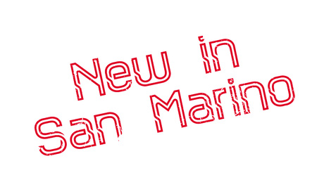 New In San Marino rubber stamp. Grunge design with dust scratches. Effects can be easily removed for a clean, crisp look. Color is easily changed. Illustration