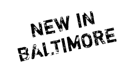 New In Baltimore rubber stamp. Grunge design with dust scratches. Effects can be easily removed for a clean, crisp look. Color is easily changed. Illustration