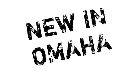 omaha: New In Omaha rubber stamp. Grunge design with dust scratches. Effects can be easily removed for a clean, crisp look. Color is easily changed.