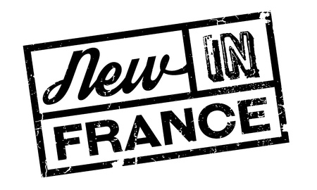 toulouse: New In France rubber stamp. Grunge design with dust scratches. Effects can be easily removed for a clean, crisp look. Color is easily changed.