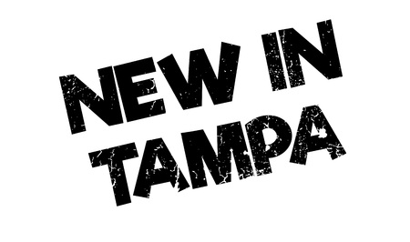 outfielder: New In Tampa rubber stamp. Grunge design with dust scratches. Effects can be easily removed for a clean, crisp look. Color is easily changed.