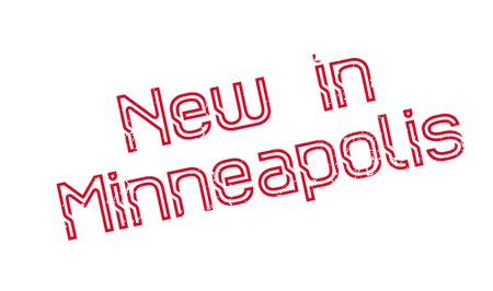 New In Minneapolis rubber stamp. Grunge design with dust scratches. Effects can be easily removed for a clean, crisp look. Color is easily changed.