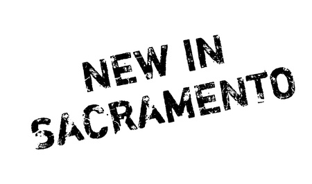 nba: New In Sacramento rubber stamp. Grunge design with dust scratches. Effects can be easily removed for a clean, crisp look. Color is easily changed.
