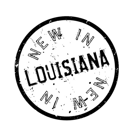 new orleans: New In Louisiana rubber stamp. Grunge design with dust scratches. Effects can be easily removed for a clean, crisp look. Color is easily changed.
