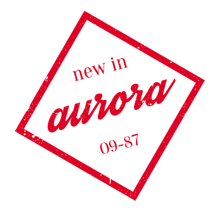 rana: New In Aurora rubber stamp. Grunge design with dust scratches. Effects can be easily removed for a clean, crisp look. Color is easily changed.