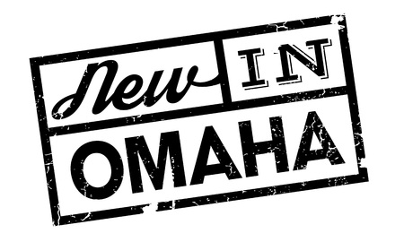 chaser: New In Omaha rubber stamp. Grunge design with dust scratches. Effects can be easily removed for a clean, crisp look. Color is easily changed.