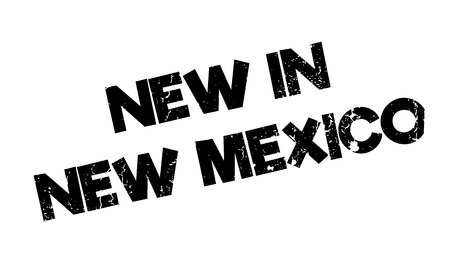 guadalajara: New In New Mexico rubber stamp. Grunge design with dust scratches. Effects can be easily removed for a clean, crisp look. Color is easily changed. Illustration