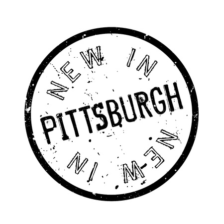 afc: New In Pittsburgh rubber stamp. Grunge design with dust scratches. Effects can be easily removed for a clean, crisp look. Color is easily changed.