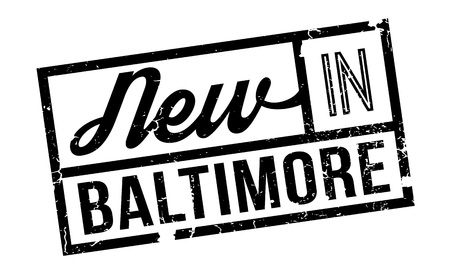 outfielder: New In Baltimore rubber stamp. Grunge design with dust scratches. Effects can be easily removed for a clean, crisp look. Color is easily changed. Illustration