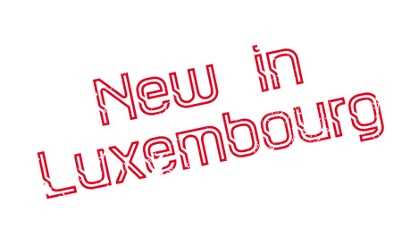 New In Luxembourg rubber stamp. Grunge design with dust scratches. Effects can be easily removed for a clean, crisp look. Color is easily changed.