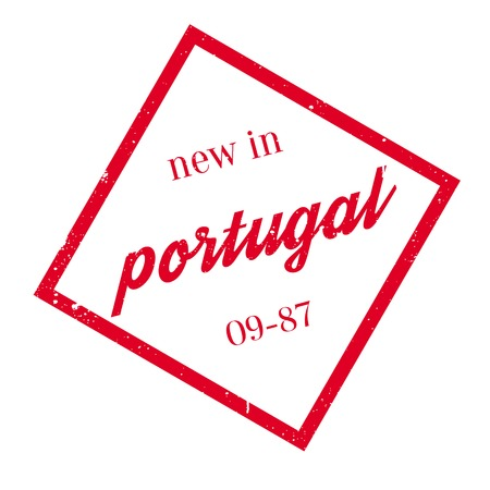 salazar: New In Portugal rubber stamp. Grunge design with dust scratches. Effects can be easily removed for a clean, crisp look. Color is easily changed.