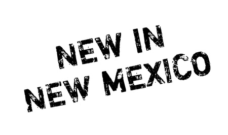 New In New Mexico rubber stamp. Grunge design with dust scratches. Effects can be easily removed for a clean, crisp look. Color is easily changed. Illustration