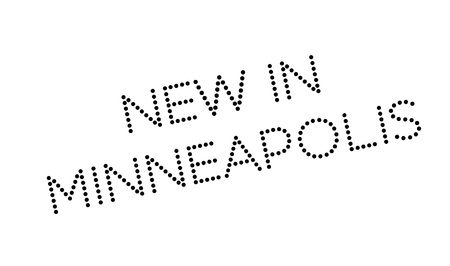 omaha: New In Minneapolis rubber stamp. Grunge design with dust scratches. Effects can be easily removed for a clean, crisp look. Color is easily changed.