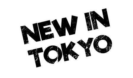 ko: New In Tokyo rubber stamp. Grunge design with dust scratches. Effects can be easily removed for a clean, crisp look. Color is easily changed.