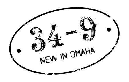 uno: New In Omaha rubber stamp. Grunge design with dust scratches. Effects can be easily removed for a clean, crisp look. Color is easily changed.
