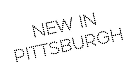 allegheny: New In Pittsburgh rubber stamp. Grunge design with dust scratches. Effects can be easily removed for a clean, crisp look. Color is easily changed.