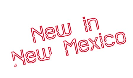 New In New Mexico rubber stamp. Grunge design with dust scratches. Effects can be easily removed for a clean, crisp look. Color is easily changed. Stock Photo
