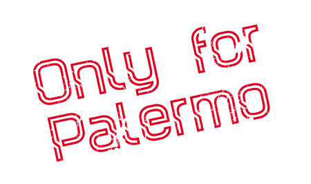 Only For Palermo rubber stamp. Grunge design with dust scratches. Effects can be easily removed for a clean, crisp look. Color is easily changed.