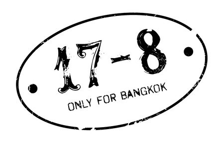 solely: Only For Bangkok rubber stamp. Grunge design with dust scratches. Effects can be easily removed for a clean, crisp look. Color is easily changed. Illustration