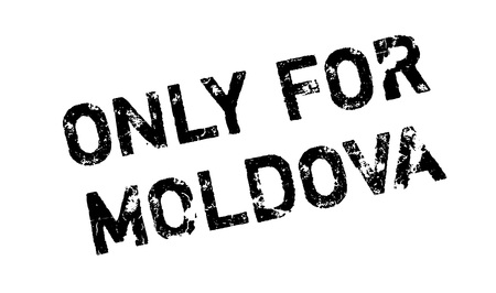 solely: Only For Moldova rubber stamp. Grunge design with dust scratches. Effects can be easily removed for a clean, crisp look. Color is easily changed.