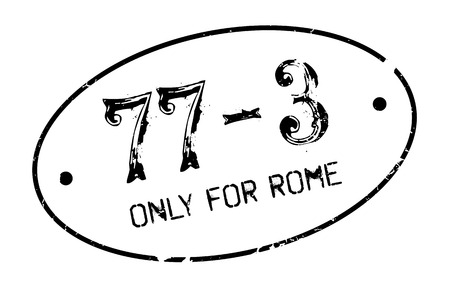solely: Only For Rome rubber stamp. Grunge design with dust scratches. Effects can be easily removed for a clean, crisp look. Color is easily changed.