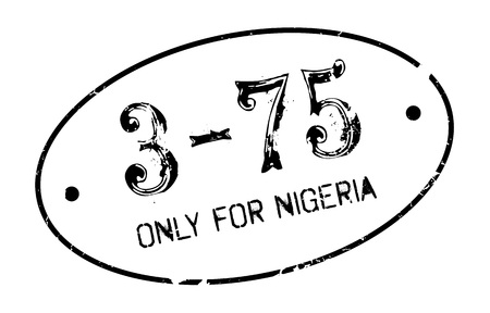 purely: Only For Nigeria rubber stamp. Grunge design with dust scratches. Effects can be easily removed for a clean, crisp look. Color is easily changed.