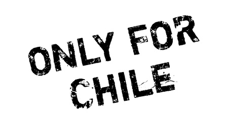 solely: Only For Chile rubber stamp. Grunge design with dust scratches.