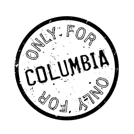 solely: Only For Columbia rubber stamp. Grunge design with dust scratches. Effects can be easily removed for a clean, crisp look. Color is easily changed.