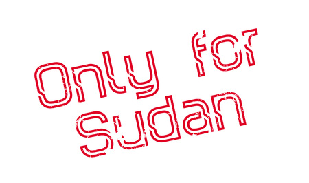 Only For Sudan rubber stamp. Grunge design with dust scratches. Effects can be easily removed for a clean, crisp look. Color is easily changed.