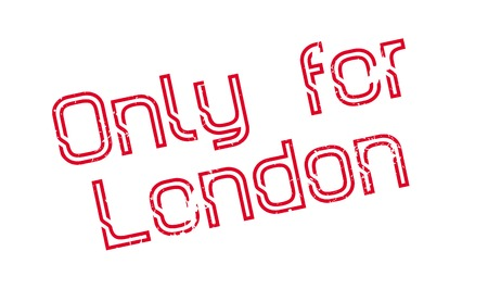 Only For London rubber stamp. Grunge design with dust scratches. Effects can be easily removed for a clean, crisp look. Color is easily changed. Illusztráció