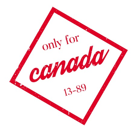 canada stamp: Only For Canada rubber stamp. Grunge design with dust scratches. Effects can be easily removed for a clean, crisp look. Color is easily changed.